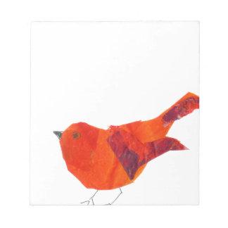 Bloco De Anotação Pássaro vermelho bonito