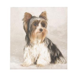 Bloco De Anotação Pintura da senhorita Mia Foto de Yorkie do retrato