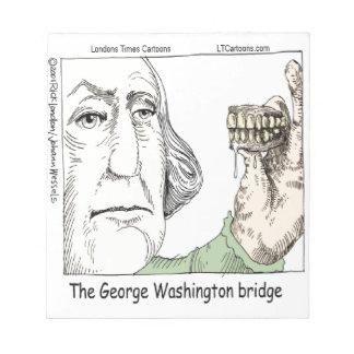 Bloco De Anotação Ponte de George Washington & presente engraçado
