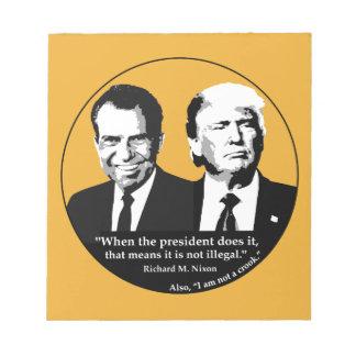 Bloco De Anotação Presidente nao ilegal
