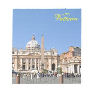 Bloco De Anotação Quadrado de San Pietro no vaticano, Roma, Italia