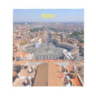 Bloco De Anotação Quadrado de St Peter no vaticano, Roma, Italia