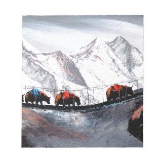 Bloco De Anotação Rebanho de iaques Himalaya da montanha