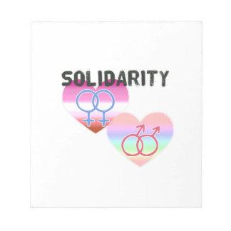 Bloco De Anotação Solidariedade alegre lésbica