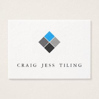 Bloco de cartões de visitas limpo e profissional