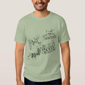 bloco de motor 454ci camisetas