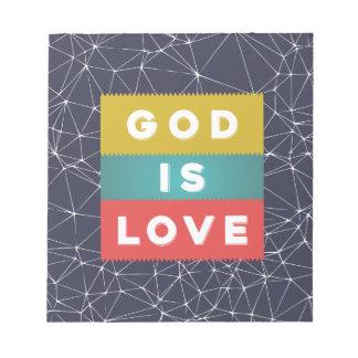 Bloco De Notas 1 4:8 de John - o deus é amor
