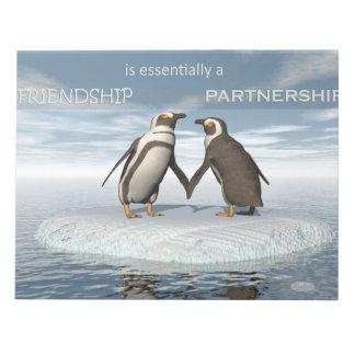 Bloco De Notas A amizade é essentailly uma parceria
