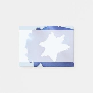 Bloco De Notas A estrela de David azul da aguarela resiste