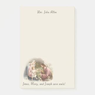 Bloco De Notas A família santamente Jesus Mary St Joseph
