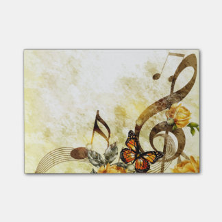 Bloco De Notas A música da borboleta nota notas do Cargo-it®