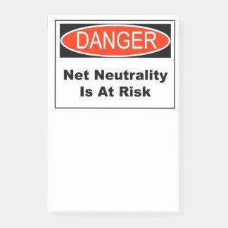 Bloco De Notas A neutralidade líquida é em risco