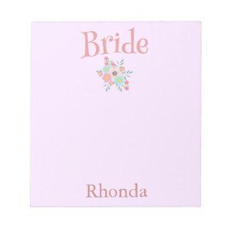 Bloco De Notas A noiva bonito personaliza