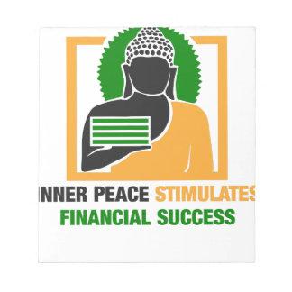 Bloco De Notas A paz interna estimula o sucesso financeiro