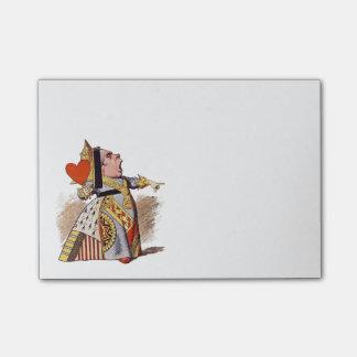 Bloco De Notas A rainha dos corações - notas de post-it