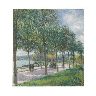 Bloco De Notas Allée de árvores de castanha - Alfred Sisley