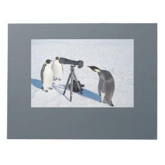 Bloco De Notas Almofada de nota dos paparazzi do pinguim