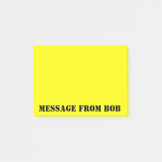 Bloco De Notas Amarelo de Dayglow das notas de Bob