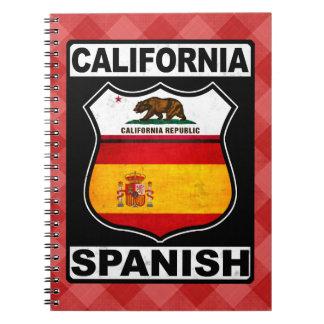 Bloco de notas americano espanhol de Califórnia Cadernos Espiral