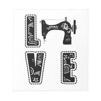 Bloco De Notas amor para sewing