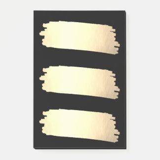 Bloco De Notas Amostras de folha do olhar do ouro da lista da