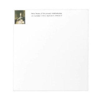 Bloco De Notas Anna Amalia de Brunsvique-Wolfenbuttel 1739-1807