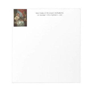Bloco De Notas Anna Amalia de Brunsvique-Wolfenbuttel 1788