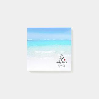 Bloco De Notas Areia de Sun e praia tropical dos beijos salgados
