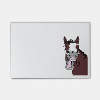 Bloco De Notas Arte de riso do Equestrian do divertimento do