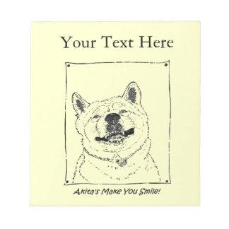 Bloco De Notas arte de sorriso engraçada do retrato do cão do