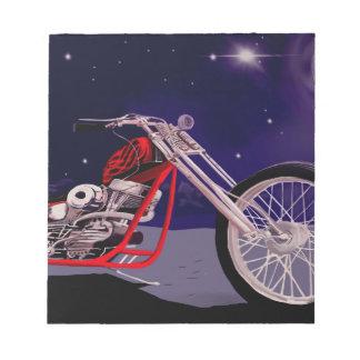 Bloco De Notas Arte do luar da motocicleta
