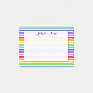 Bloco De Notas As listras do arco-íris personalizaram 4 x 3