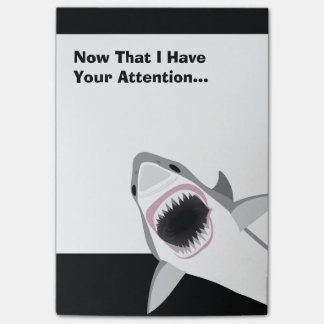 Bloco De Notas Ataque engraçado do tubarão