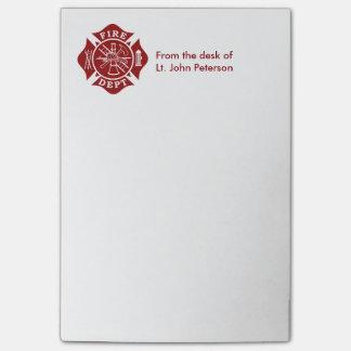 Bloco De Notas Ateie fogo a notas feitas sob encomenda do