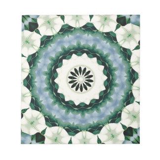 Bloco De Notas Azul Cerulean e mandala verde de Sacramento