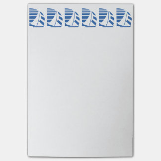 Bloco De Notas Azul que compete notas pegajosas dos veleiros