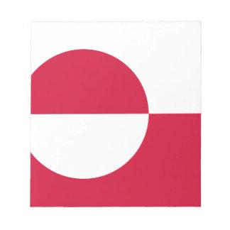 Bloco De Notas Baixo custo! Bandeira de Greenland