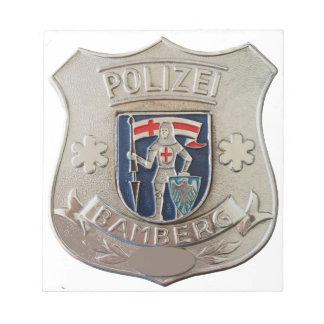 Bloco De Notas Bamberga Polizei