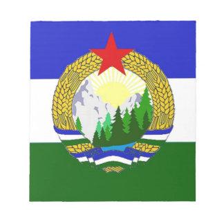 Bloco De Notas Bandeira de Cascadia socialista