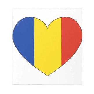 Bloco De Notas Bandeira de Romania simples