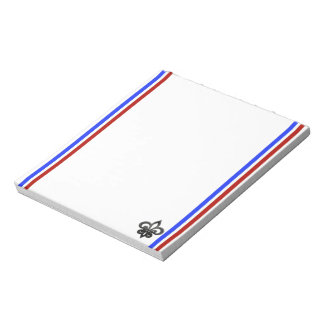 Bloco De Notas Bandeira francesa das listras
