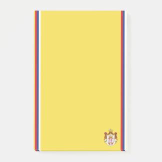 Bloco De Notas Bandeira sérvio da listra
