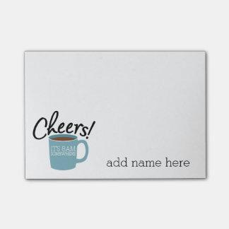 Bloco De Notas Bebedor engraçado do café - elogios é 8am em algum