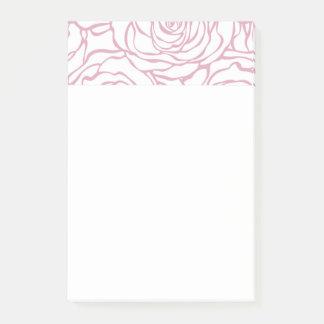 Bloco De Notas bonito, floral.pink, branco, peônias, femininos,