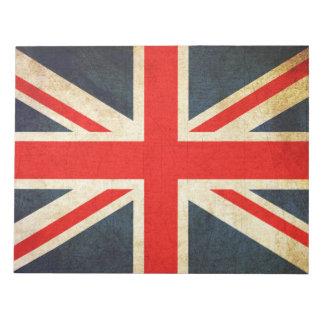 Bloco de notas britânico da bandeira de Union Jack