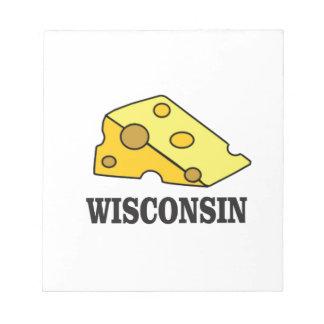 Bloco De Notas Cabeça do queijo de Wisconsin