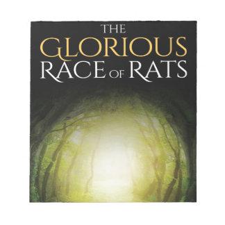 """Bloco De Notas Capa do livro """"da raça gloriosa dos ratos """""""