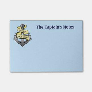 Bloco De Notas Capitão de navio customizável sua âncora conhecida