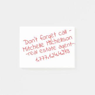 Bloco De Notas Cartão de visita pegajoso do Scribble III