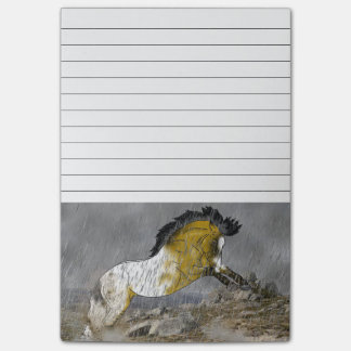 Bloco De Notas Cavalo selvagem do Appaloosa do Buckskin